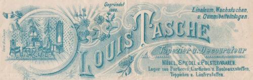 Louis Tasche - Briefkopf